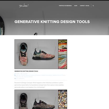 Generative Knitting Design Tools