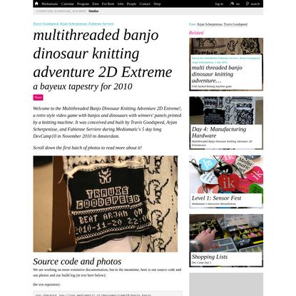 multithreaded banjo dinosaur knitting adventure 2D Extreme