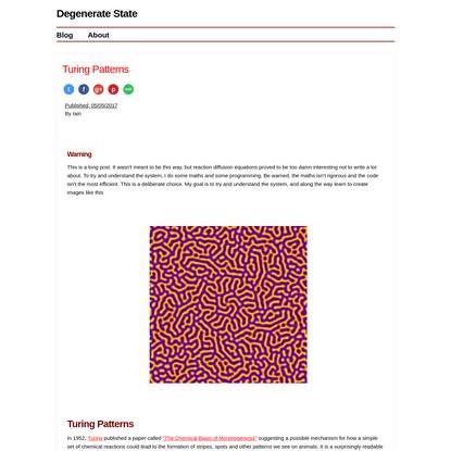 Turing Patterns