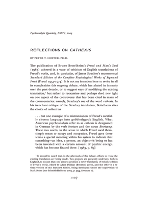 Reflections on Cathexis