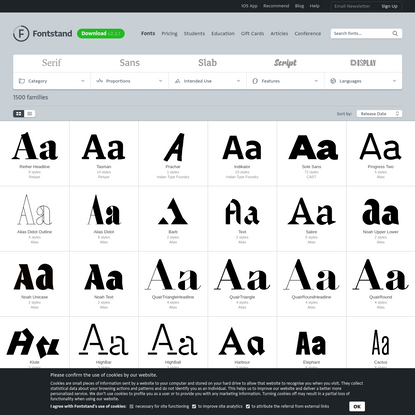 Newest fonts - try fonts for free and rent fonts on Fontstand