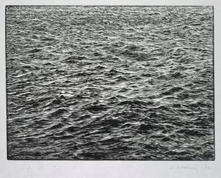 Vija Celmins. Ocean Surface Woodcut. 1992