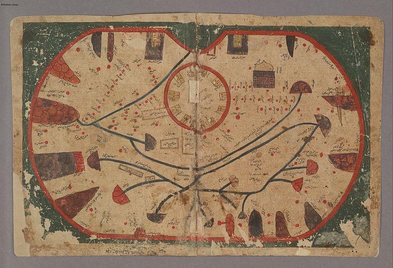 Map of Sicily 13th century copy of 11th century original