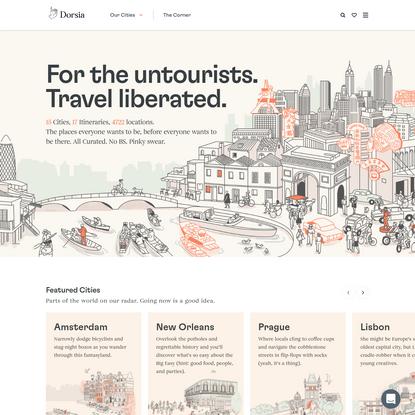 Dorsia - Embrace the Urbane, Escape the Mundane