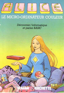 Alice Computer manual with art by Art by Mœbius