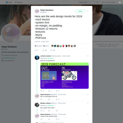 Steph Davidson on Twitter
