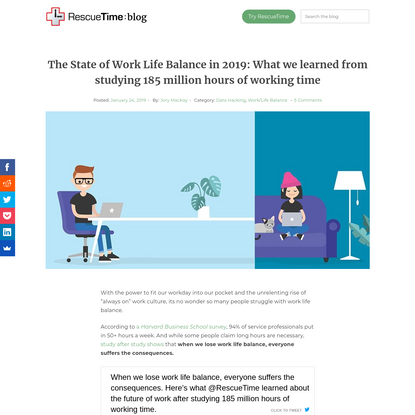The State of Work Life Balance in 2019 (According to Data) - RescueTime
