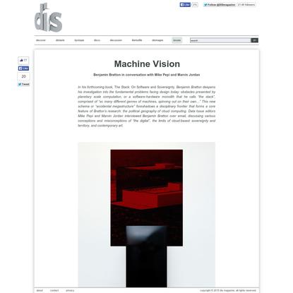Benjamin Bratton   Machine Vision