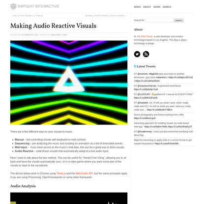 Making Audio Reactive Visuals