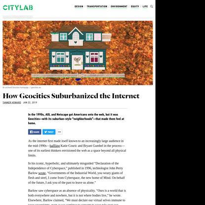 How Geocities Suburbanized the Internet