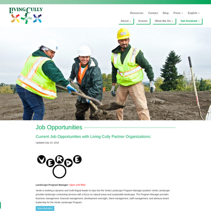 Job Opportunities - Living Cully