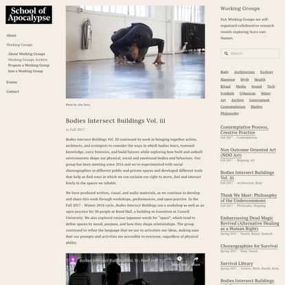 Bodies Intersect Buildings Vol. iii