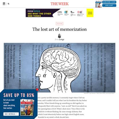 The lost art of memorization