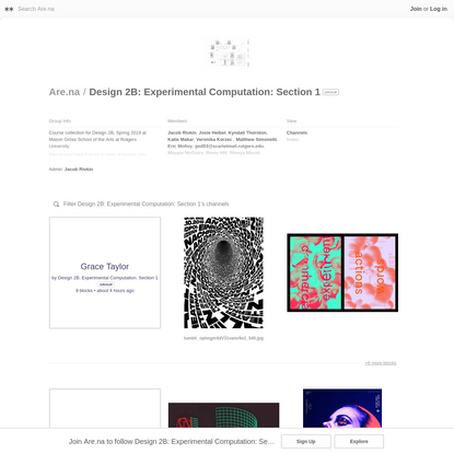Are.na / Design 2B: Experimental Computation: Section 1