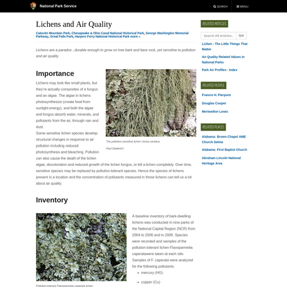 Lichens and Air Quality (U.S. National Park Service)