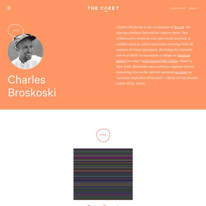 Charles Broskoski - List | The Caret