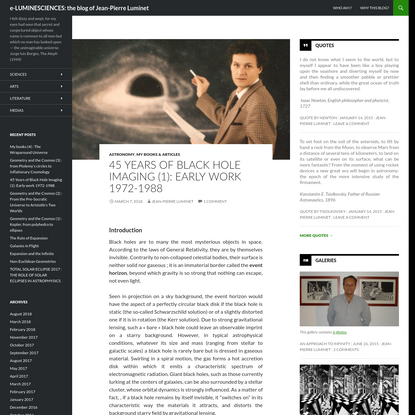 45 Years of Black Hole Imaging (1): Early work 1972-1988, by Jean-Pierre Luminet