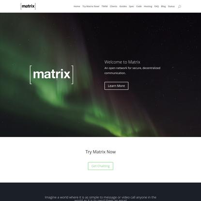 Home   Matrix.org