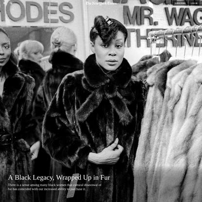 A Black Legacy, Wrapped Up in Fur