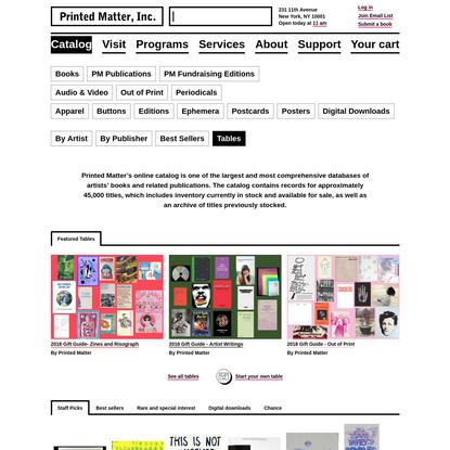 Catalog - Printed Matter
