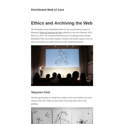 Ethics and Archiving the Web