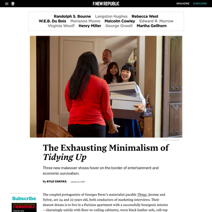 """The Exhausting Minimalism of """"Tidying Up"""""""