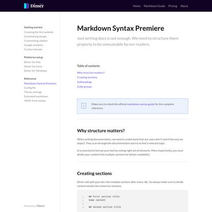 Markdown Syntax Premiere