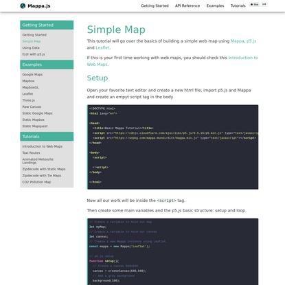 Simple Map · Mappa.js