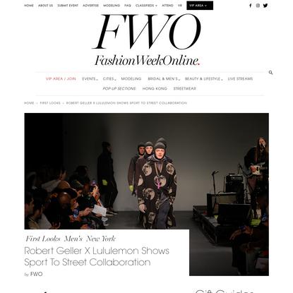 Robert Geller X Lululemon Shows Sport To Street Collaboration   Fashion Week Online®