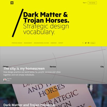 Dark Matter and Trojan Horses - Medium