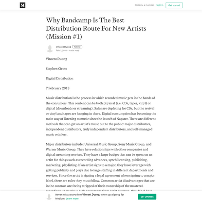 Why Bandcamp Is The Best Distribution Route For New Artists (Mission #1)