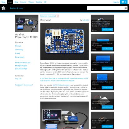 Overview | Adafruit Powerboost 1000C | Adafruit Learning System