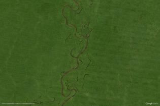 Barcelos, Brazil (Google Earth View 1966)