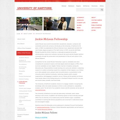 Jackie McLean Fellowship