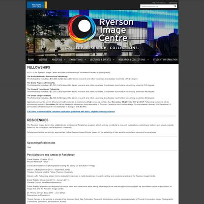 Fellowships - RYERSON IMAGE CENTRE - Visit Us - Ryerson University