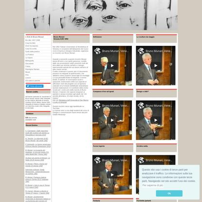 MunArt - The most complete web site dedicated to Bruno Munari