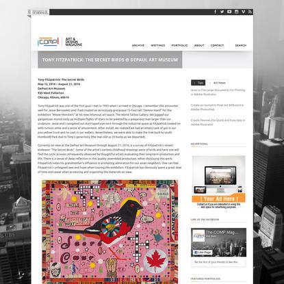 Tony Fitzpatrick: The Secret Birds @ DePaul Art Museum