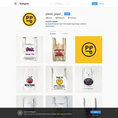 PLASTIC PAPER (@plastic_paper_) * Instagram photos and videos
