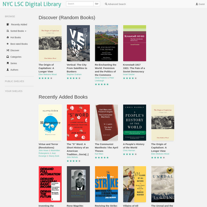 NYC LSC Digital Library   Recently Added Books