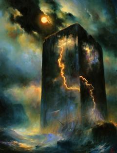 Headland of Storm (2016 / Oil on canvas) - Mariusz Lewandowski
