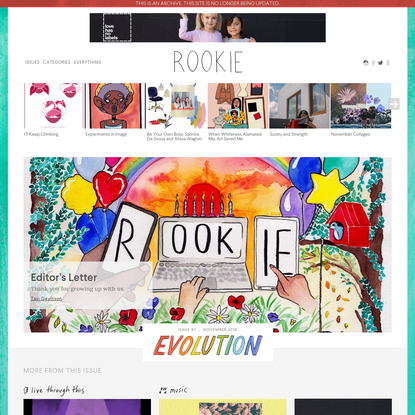 Rookie - Rookie is an online magazine for teenagers.