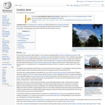 Geodesic dome - Wikipedia
