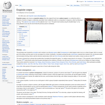 Exquisite corpse - Wikipedia
