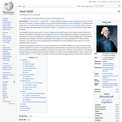 Adam Smith - Wikipedia
