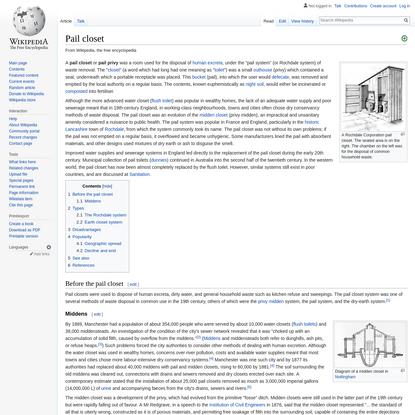 Pail closet - Wikipedia