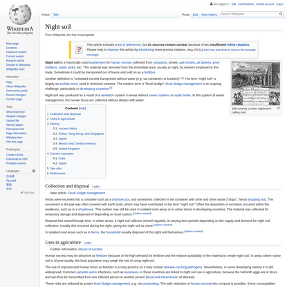 Night soil - Wikipedia