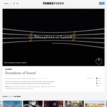 Sensations of Sound