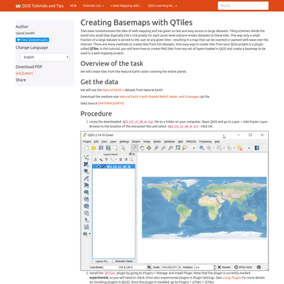 Creating Basemaps with QTiles - QGIS Tutorials and Tips