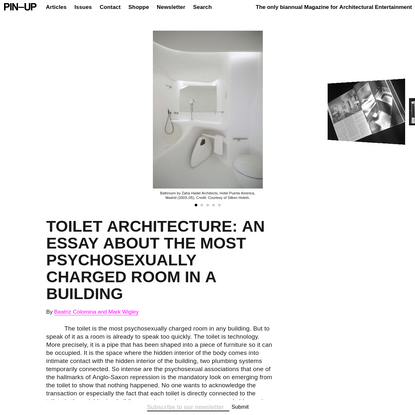 TOILET ARCHITECTURE: AN ESSAY ABOUT THE MOST PSYCHOSEXUALLY CHARGED ROOM IN A BUILDING