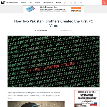 How Two Pakistani Brothers Created the First PC Virus
